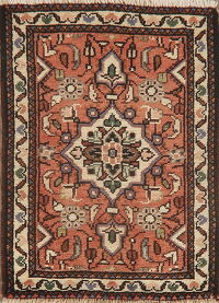 Geometric Red Hamedan Persian Area Rug 2x2