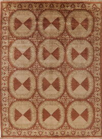 Brown Art & Craft Nepalese Oriental Area Rug 8x11