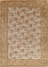 All-Over Floral Tuscan Nepalese Tibetan Area Rug 10x14