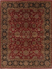 All-Over Floral Red Agra Oriental Area Rug 9x12