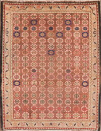 Vintage All-Over Brown Tabriz Persian Area Rug 2x3