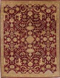 All-Over Red Oushak Oriental Area Rug 8x10