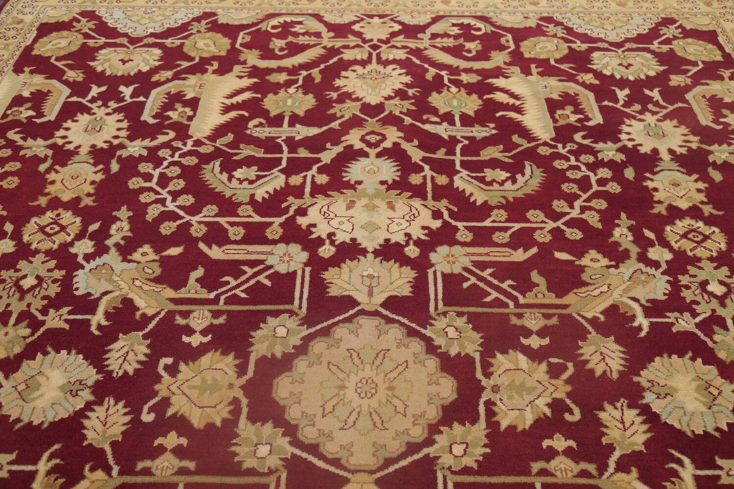 All-Over Red Oushak Oriental Area Rug 8x10 image 12