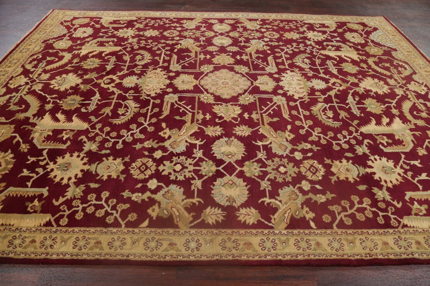 All-Over Red Oushak Oriental Area Rug 8x10 image 14