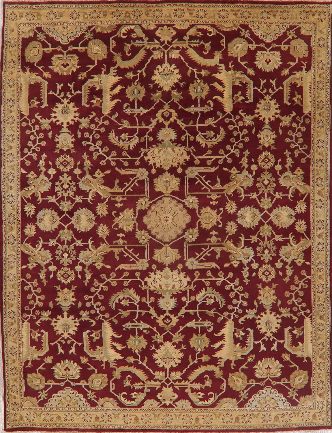All-Over Red Oushak Oriental Area Rug 8x10 image 1