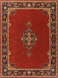 Red Geometric Oushak Oriental Area Rug 9x12