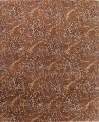Tuscan Brown Floral Aubusson Oriental Area Rug 8x10
