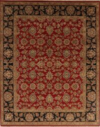 Red Floral All-Over Agra Oriental Area Rug 8x10