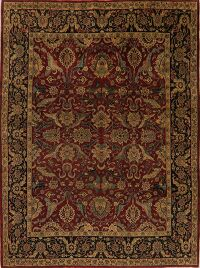 All-Over Floral Red Agra Oriental Area Rug 8x10