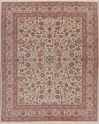 All-Over Floral Tabriz Oriental Area Rug 8x10