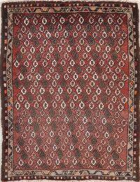 All-Over Red Hamedan Persian Area Rug 2x3