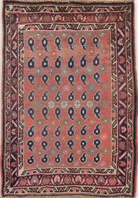 Vintage All-Over Hamedan Persian Area Rug 3x3 Square