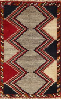 Geometric Gabbeh Persian Area Rug 2x3
