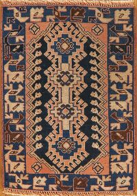 Geometric Yalameh Persian Area Rug 2x2 Square