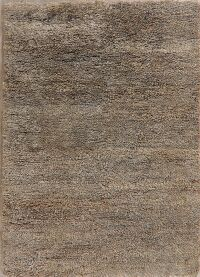 Brown Solid Modern Shaggy Area Rug 5x7