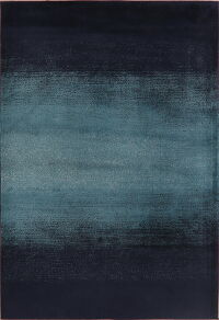 Stripe Teal Blue Modern Area Rug 5x8