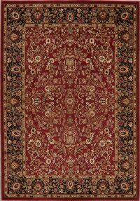 All-Over Floral Red & Black Area Rug 5x8