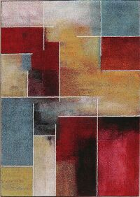 Blocked Design Multi-Color Area Rug 5x8