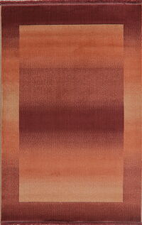 Contemporary Rust Modern Area Rug 5x8