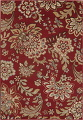 Transitional Floral Red Area Rug 5x7 image 1