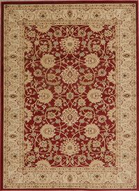All-Over Floral Red Area Rug 5x7