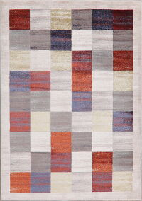 Checked Modern Multi-Colored Area Rug 5x7