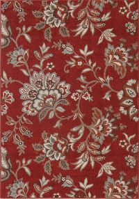 All-Over Floral Red 5x7 Area Rug