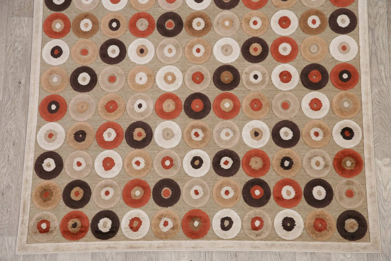All-Over Brown Modern Area Rug 5x7 image 4