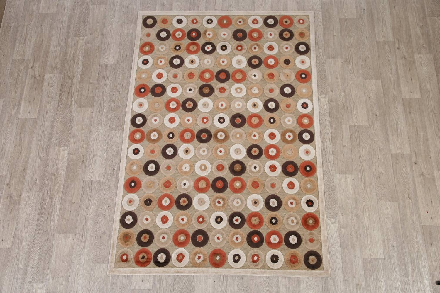 All-Over Brown Modern Area Rug 5x7 image 2