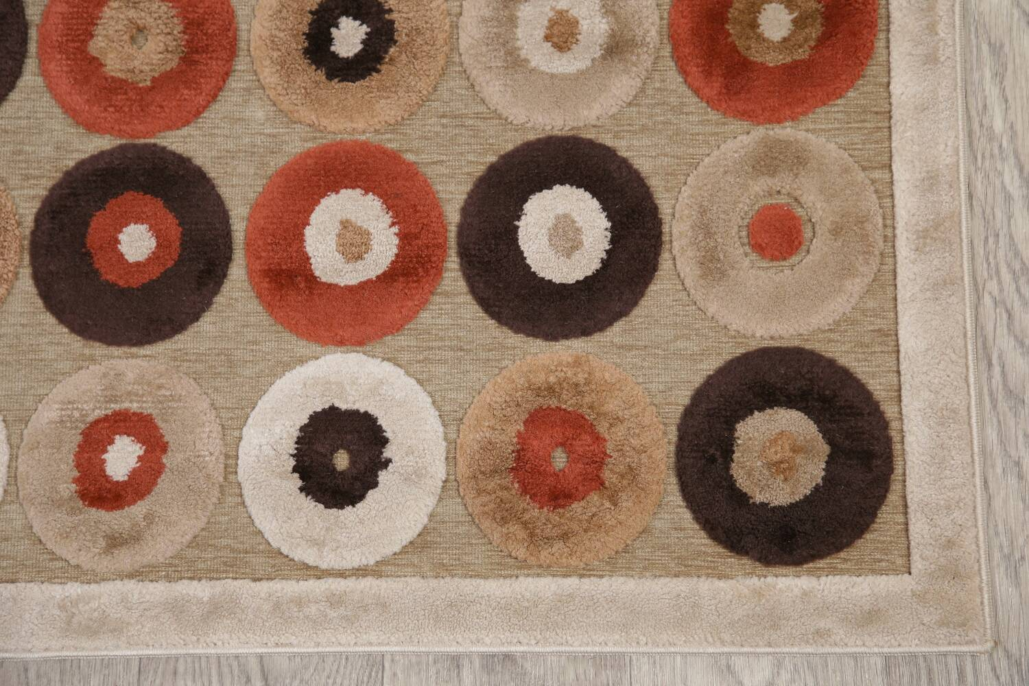All-Over Brown Modern Area Rug 5x7 image 5