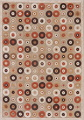 All-Over Brown Modern Area Rug 5x7 image 1