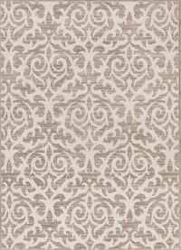 All-Over Tuscan Ivory Modern Area Rug 5x7