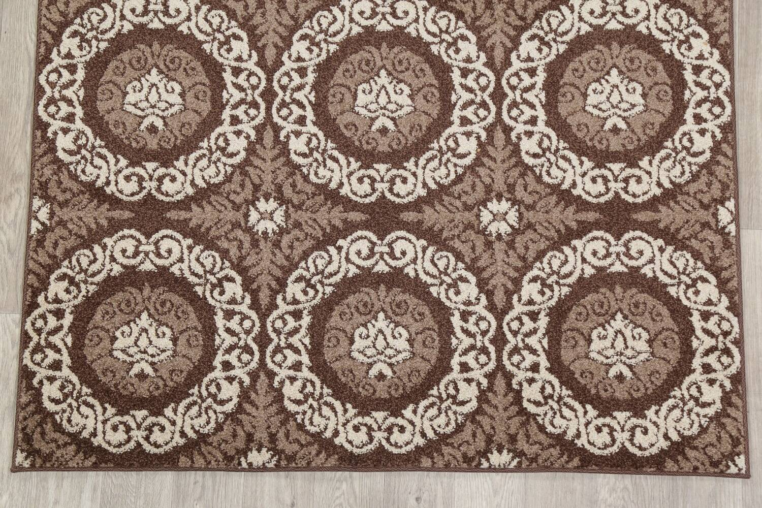 Beige & Brown Tuscan Chester Area Rug 5x7 image 4