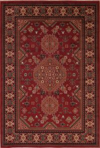 Tribal Geometric Red Area Rug 5x8