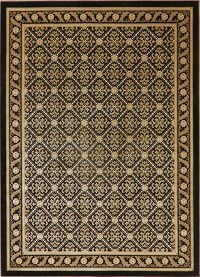 Black & Gold Tuscan Modern Area Rug 5x7