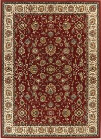 Floral Red Agra Oriental Area Rug 9x13