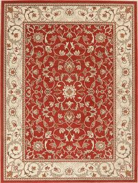 Floral Red Oushak Turkish Oriental Area Rug 8x10