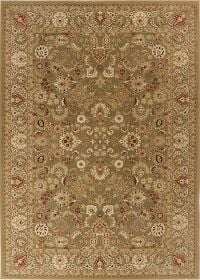 Green Floral Mahal Turkish Area Rug 8x11