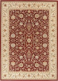 Floral Red Modern Turkish Area Rug 8x11