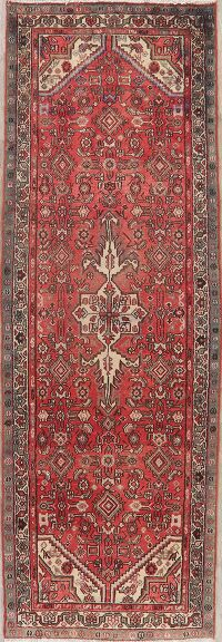 Vintage Tribal Hamedan Persian Runner Rug 3x9
