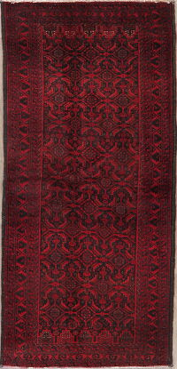 All-Over Balouch Persian Runner Rug 3x7