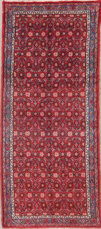 Vintage All-Over Red Malayer Persian Runner Rug 4x8