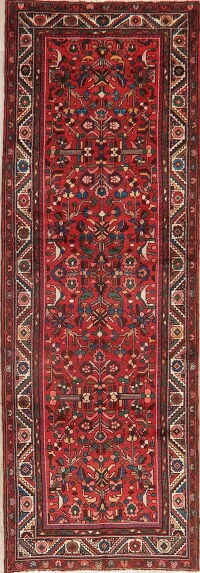 Vintage All-Over Geometric Lilian Persian Runner Rug 4x10
