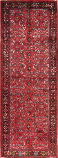 Vintage All-Over Floral Bidjar Persian Runner Rug 4x11
