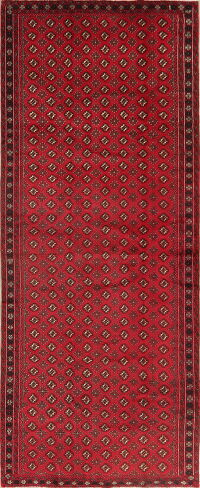 Vintage All-Over Red Balouch Persian Runner Rug 5x12