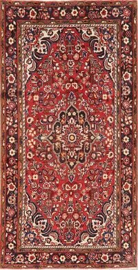 Floral Red Borchelu Persian Area Rug 5x10