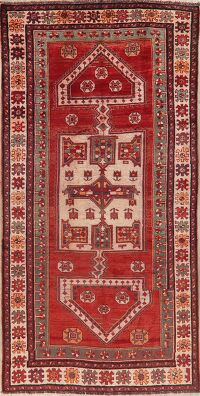 Antique Geometric Red Lori Persian Area Rug 5x10