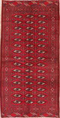 Geometric Red Balouch Oriental Runner Rug 4x8