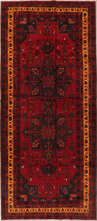 Geometric Red Balouch Persian Runner Rug 6x14