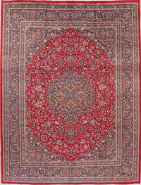 Traditional Floral Red Kashmar Persian Area Rug 10x13